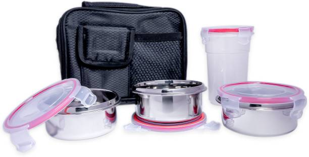di select Lunch Box with Tumbler and Spoon   Set of 5 4 Containers Lunch Box