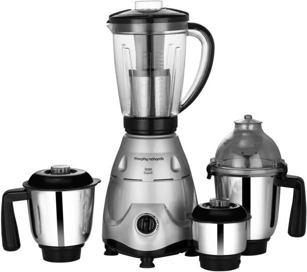 Morphy Richards Superb Icon 750 W Mixer Grinder (4 Jars, Silver)