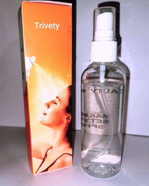 Trivety Long lasting Natural Makeup Fixer with Aloevera ad Vitamin E Primer - 100 ml (Transparent) Primer  - 100 ml