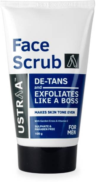 USTRAA Face Scrub De Tan with walnut granules (100g) Scrub