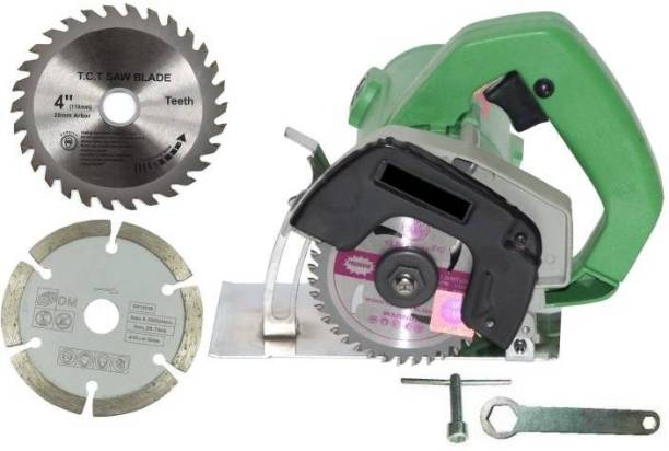 ComboYug Powerful wood and granite cutting machine (1050 W) (11000 RPM) (110 mm) for wood/marble/tile/granite/metal cutting Free 2 wheels Handheld Tile Cutter