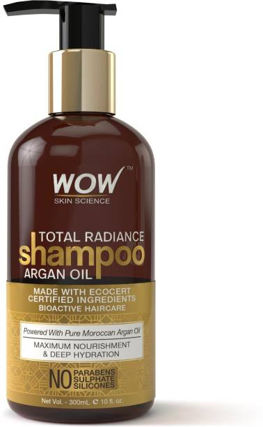 WOW SKIN SCIENCE Total Radiance Shampoo - infused with Argan Oil - No Parabens, Sulphates & Silicones