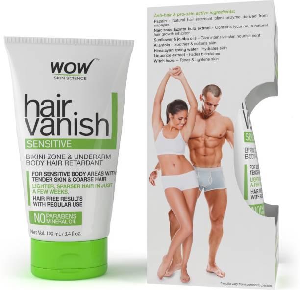 WOW SKIN SCIENCE WOW Hair Vanish Sensitive - No Parabens & Mineral Oil (100mL) Cream