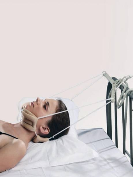 TYNOR Cervical Traction Unit Device -New- Easy Home Use. G26- Sleeping Neck Support