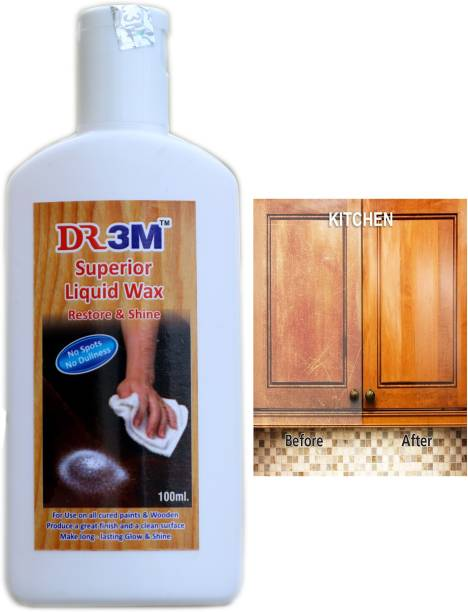 dr.3m RSSJ305-Superior Liquid Wooden Wax Polish 100ml (Removes Stains and Restores Shine)
