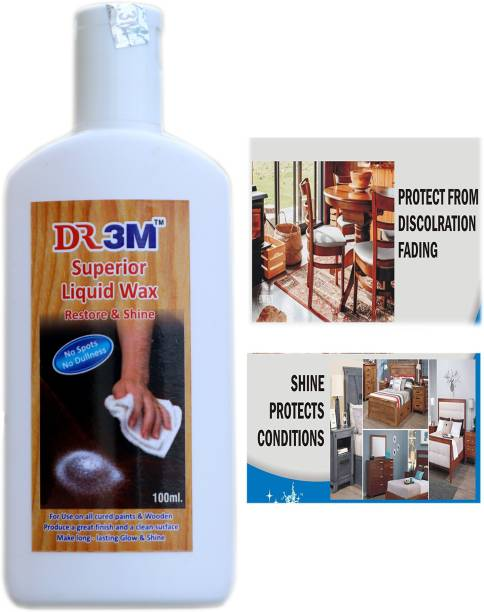 dr.3m DR3M RSSJ303-Superior Liquid Wooden Wax Polish 100ml (Removes Stains and Restores Shine)