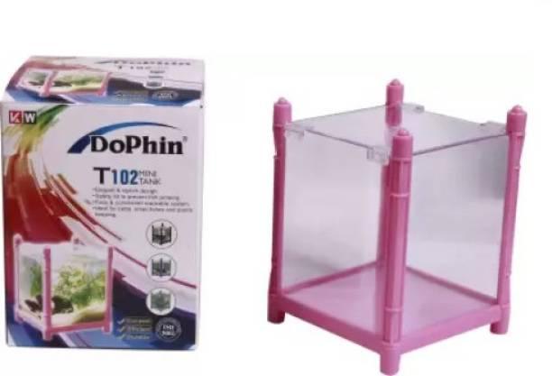 Dophin Aquarium Betta Fish Mini Tank T102 Corner Pentagon Aquarium Tank