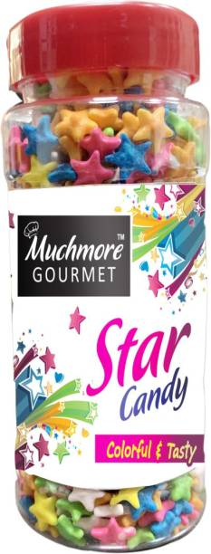 Muchmore Moon & Star Candy Sprinkles for Cake Decoration Coloured Sugar Confectionery , combo pack of 2 (150 G x 2 ) Sprinkles