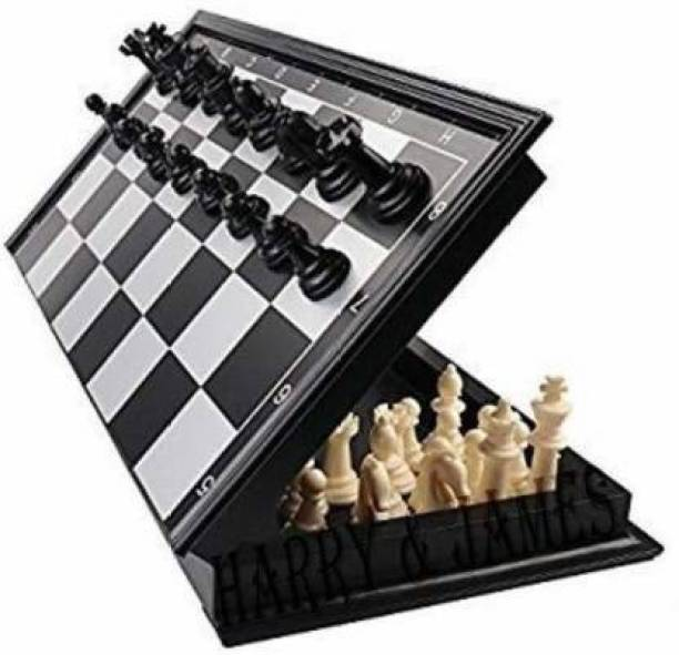 WECAN FASHION Magnetic Educational Toys Travel Chess Set with Folding Board for Kids and Adults (10 Inch). Board Game Accessories Board Game Educational Board Games Board Game