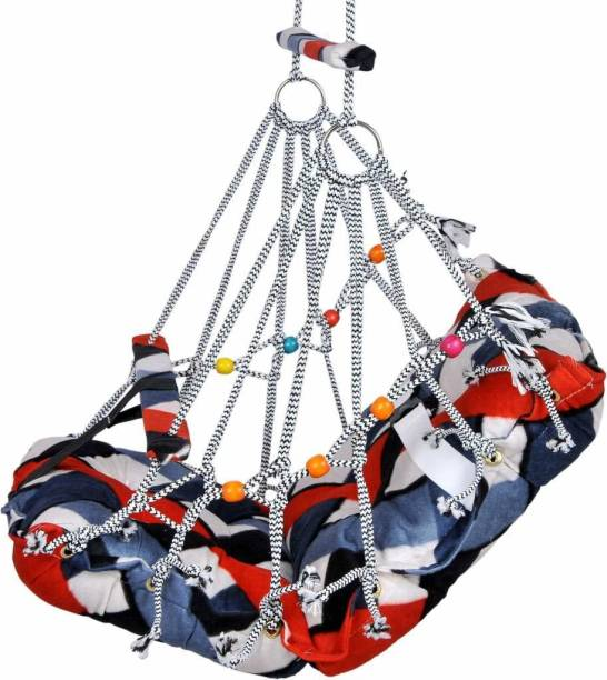 Varni Cotton Swing for Kids, Home Garden Jhula for Baby with Safety Belt Swings