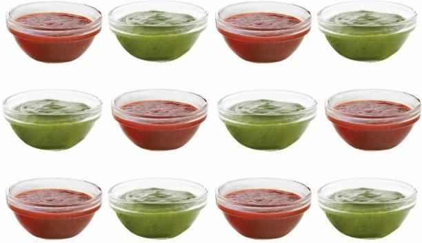 Swastik Housewares Soogo B - Chutney Bowl Set of 12 pcs Glass Sauce Bowl