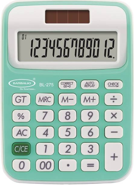 BAMBALIO 12 DigitsBL-275 Green Large LC Display 3 Years Warranty Basic  Calculator