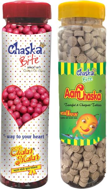 CHASKA BITE |Aam Chaska|Chatar Matar|Chatpati Candies|Imli Pops|Khatti Meethi|Digestive Sour Candies|500gm|Pack of 2 DRY MANGO, SWEET AND SOUR Candy