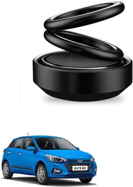 Auto Smart Look ASL1744 Car Solar Ring Air Freshener Double Loop Rotary Air Conditioner Dashboard Air Freshener Perfume Black For Hyundai i20 Elite Air Purifier