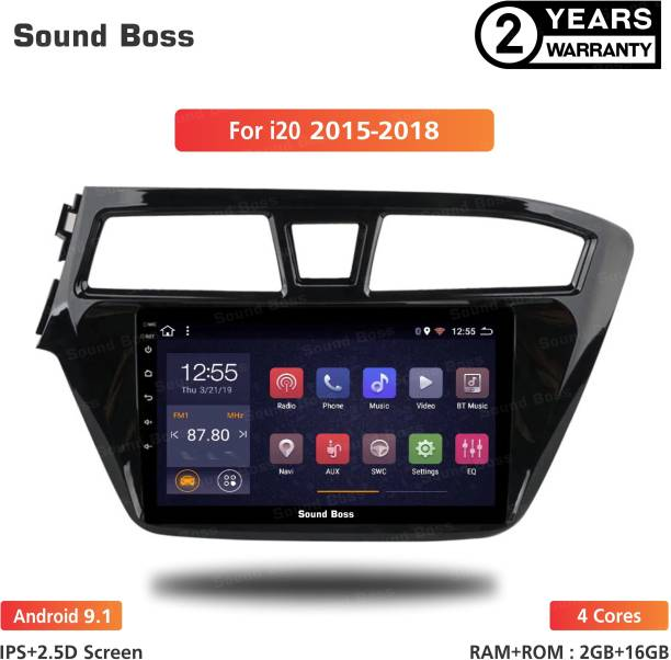 """Sound Boss Androidify 3rd Generation 9"""" Inch Android 9.1(2GB/16GB) For Hyundai Grand i20-2015-2018 Android Car Stereo (Double Din) Car Stereo"""