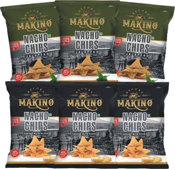 MAKINO No Onion No Garlic Nacho Chips (75 g x 6) Nachos