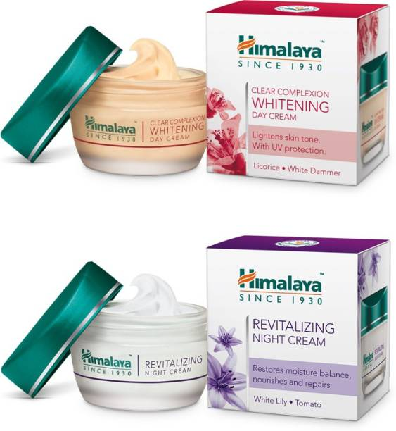 HIMALAYA Clear Complexion Whitening Day Cream 50g & Revitalizing Night Cream 50g (Combo pack)