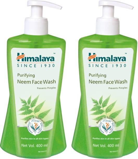 HIMALAYA PURIFYING NEEM FACE WASH 400ML (pack of 2)