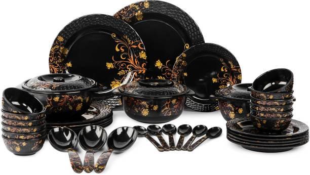 AE Maharani Pack of 40 Melamin Dinner Set (Pack of 40) Dinner Set