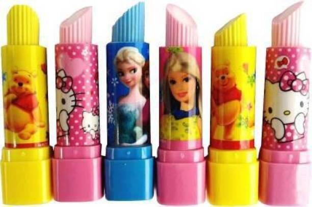 anjanaware Girl's Cartoon Lipstick Style Eraser Non-Toxic Eraser Non-Toxic Eraser