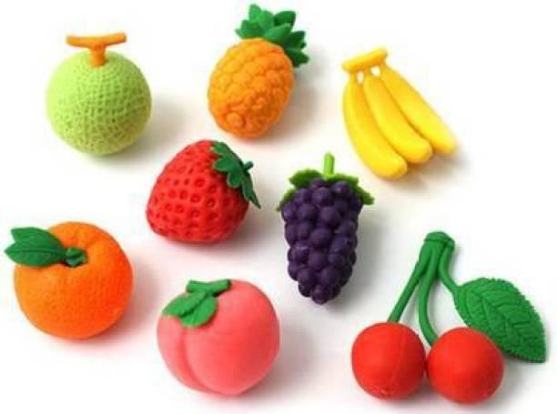 VTR3 Cute Eraser Bottle Fruit Style Eraser Set Stationery for Kids Non-Toxic Eraser (Multicolor) Non-Toxic Eraser