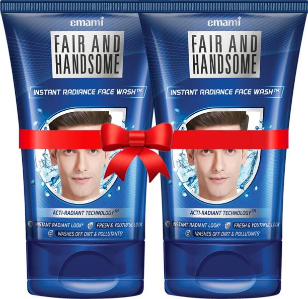 FAIR AND HANDSOME Instant Radiance  100 gm Pack of 2 Face Wash