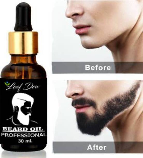 leaf dew Beard Growth Oil For Men and Boys Specially for Mooch, Beard & Dadhi Growth Hair Oil (30 ml) Hair Oil