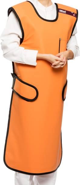 Kiran Health Shield Radiation Protection Coat Apron - 0.50 mm Pb - Leadlite - Satin Touch Gown Hospital Scrub