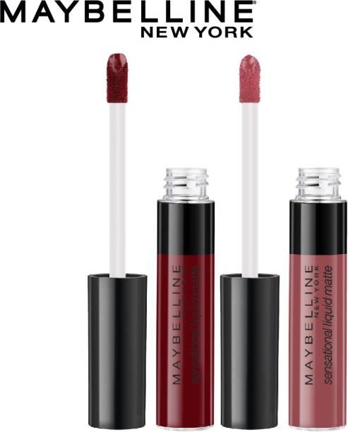 MAYBELLINE NEW YORK Sensational Liquid Matte Lipstick - 02 Soft Wine + 06 Best Babe