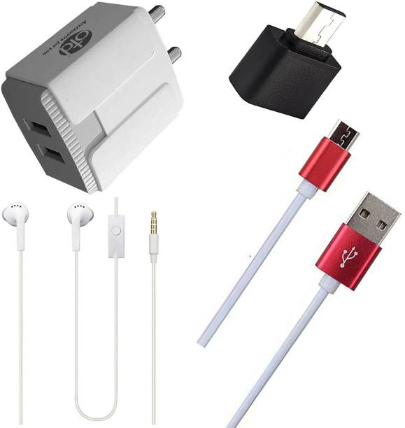 OTD Wall Charger Accessory Combo for Spice Smart Flo Pace 3 Mi-502n, Spice Smart Flo Poise Mi-451, Spice Stellar Mi-361, Spice Stellar Mi-362