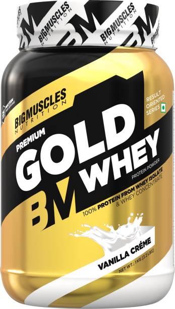 BIGMUSCLES NUTRITION Premium Gold Whey Vanilla Creme Whey Protein
