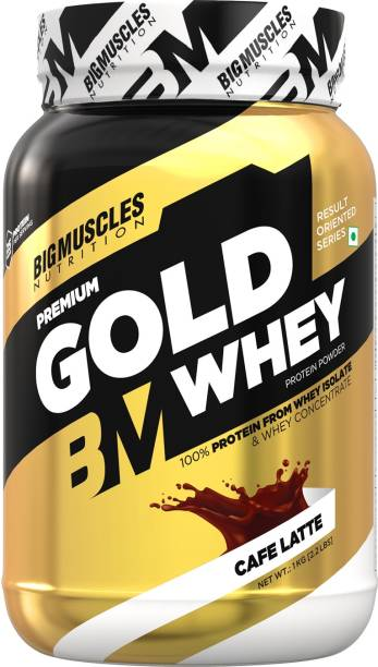 BIGMUSCLES NUTRITION Premium Gold Whey Caffe Latte Whey Protein