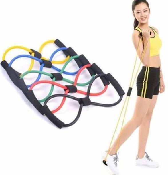 BORIS Resistance Band 8 Type Chest Expander fitness Exercise Tube Resistance Tube(Blue) Resistance Tube