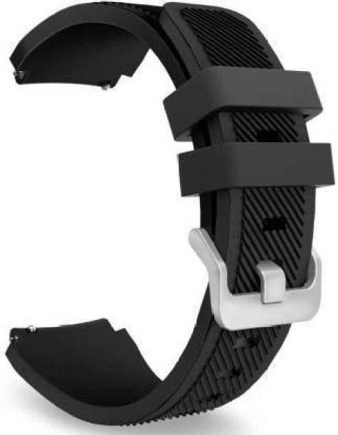 gettechgo Soft Silicone 20mm Strap for Samsung Galaxy Watch 3 41mm, Galaxy 42mm, Galaxy Active/Active 2/Gear S2/AmazeFit BIP/BIP Lite/AmazeFit GTS/ GTR/VivoActive 3/Huawei GT2 /Realme & Smartwatch with 20mm Lugs Smart Watch Strap