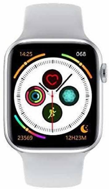 Ubee Full Display W26 SmartWatch 1.75inch Infinite Screen 44mm Watch 6 Series Smart Watch Bluetooth Call ECG Temperature Smart Watch (White Strap) Smart Watch Strap