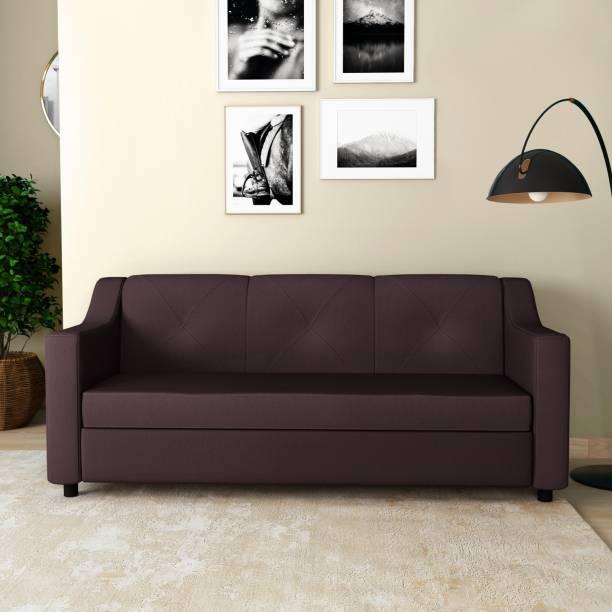 Godrej Interio Monarch Leatherette 3 Seater  Sofa