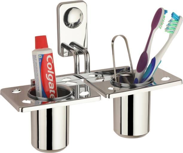Romax New ToothBrush Holder/Tumbler Holder/Tumbler Stand Stainless Steel Toothbrush Holder Stainless Steel Toothbrush Holder Stainless Steel Toothbrush Holder