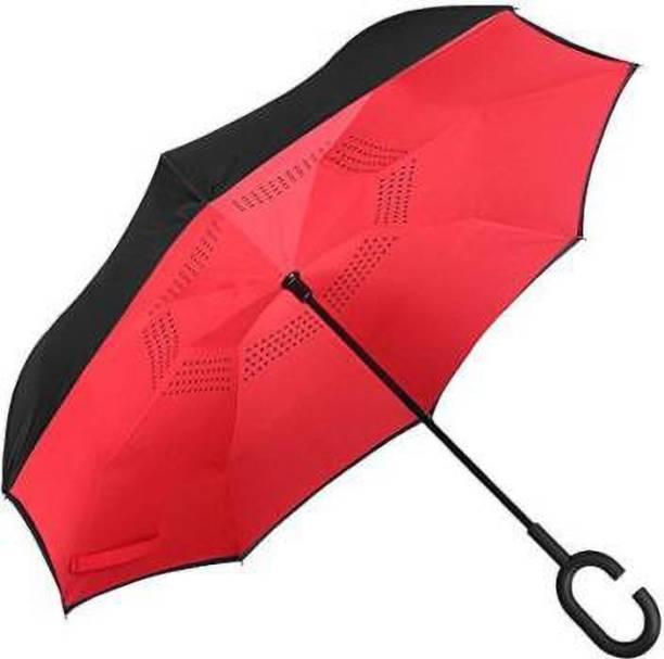 ShoppoWorld Folding Double Layer Inverted Umbrella Self Stand Umbrella Umbrella