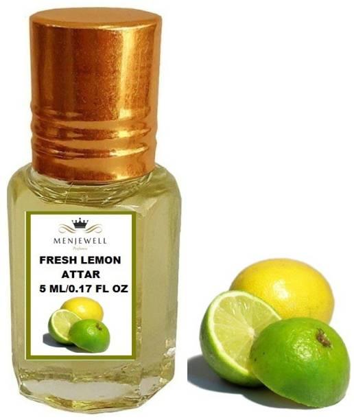 Menjewell Fragrances Fresh Lemon (Natural Itra/Attar/ Perfume) Citrus Attar 5ml Floral Attar
