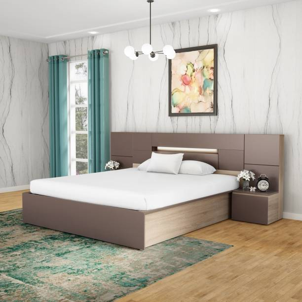 Godrej Interio Ray Engineered Wood King Hydraulic Bed