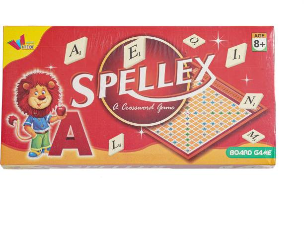 Kidsarena Spellex - A Crossword Board Game Kit for Kids/Crossword Brainteaser/English Word Board Game/Fast-Playing Board Game for Ages 8 and Up- Searching Words, Improve Spelling, Vocabulary for Kids Word Games Board Game