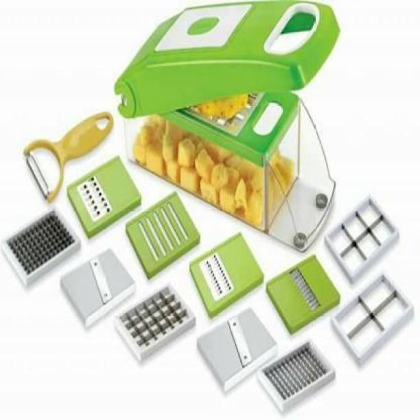ALAMPAR Multi-Purpose Plastic Vegetable and Fruits Chopper Vegetable & Fruit Grater & Slicer