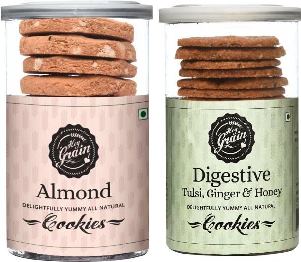 Hey Grain Almond Cookies & Digestive Cookies Combo Cookies