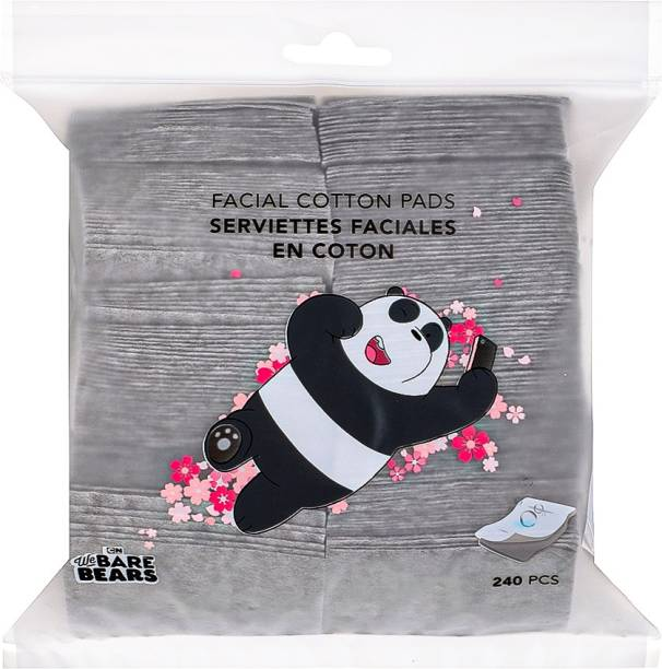 MINISO We Bare Bears Facial Cotton Pads, 240 Pcs