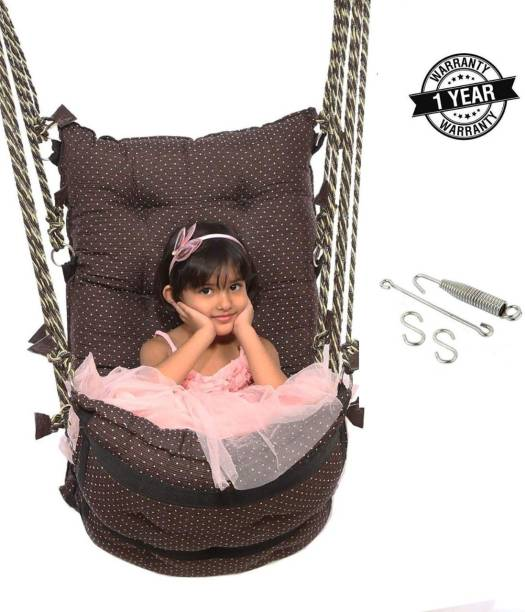 Smart Beans Brown Hammock With Accessories Cotton Small Swing