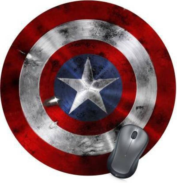 PrintMall Captain America Shield Designer Mousepad Mousepad