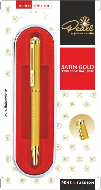 PIERRE CARDIN Pearl Satin Gold Ball Pen
