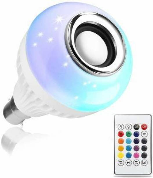 JAISDERS Led Bulb with Bluetooth Speaker Music Light Bulb + RGB Light Ball Bulb Colorful Lamp with Remote Control for Home,Bedroom,Living Room,Party Compatible for All Device Smart Bulb
