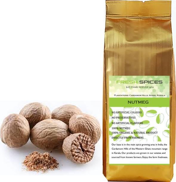 Fresh Spices Nutmeg / Jaiphal / Jathikka, Organically Grown, 100% Pure from Kerala