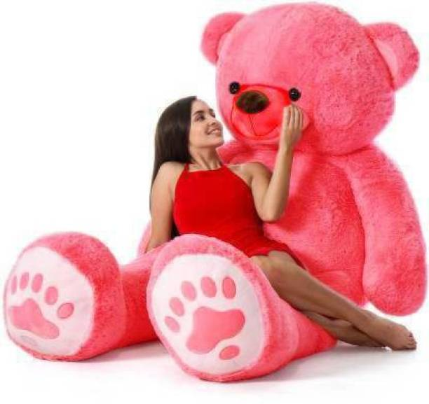 Teddy House 3 feet teddy bear for valentine & Anniversary / birthday Very Cute Looking Soft Hugable American Style Teddy Bear Best For Gift - 91.5 cm carrot - 91.5 Cm (Pink)  - 91.5 cm